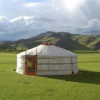 Componentes de una yurta mongol